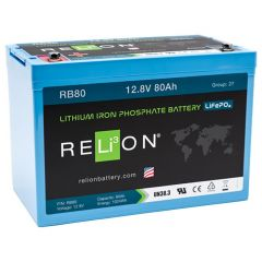 Relion RB80 Lithium Ion LiFePO4 Battery 12V 80Ah