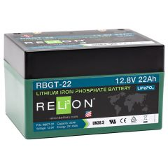 Relion RBGT-22 Lithium Iron Phosphate Golf Trolley Battery 22Ah 12VDC