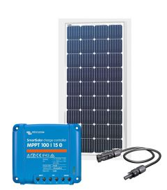 RV Solar Charging Kit - 180W Solar Panel, 15A Victron Charge Controller, Wiring & Breakers