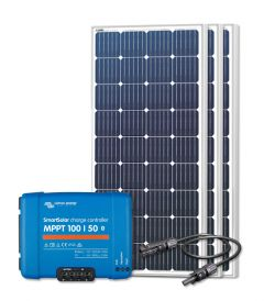 RV Solar Kit Charging System - 540W Solar Array, 50A Victron Charge Controller, Wiring & Breakers