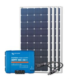 RV Solar Kit Charging System - 720W Solar Array, 50A Victron Charge Controller, Wiring & Breakers