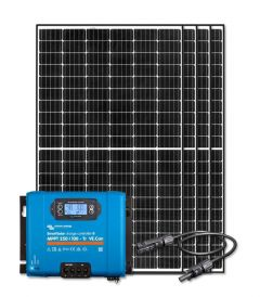 RV Solar Kit Charging System - 1320W Solar Array, 100A Victron Charge Controller, Wiring & Breakers