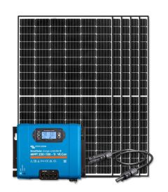 RV Solar Kit Charging System - 1650W Solar Array, 100A Victron Charge Controller, Wiring & Breakers