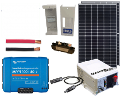 RV & Marine 12V Charging Kit with 660 Watt Solar Panel & 50 Amp MPPT Charge Controller
