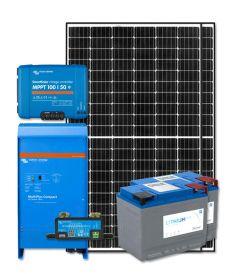 RV Solar Kit Turnkey System - 660W Solar Array, 2000VA Victron 12V MultiPlus, 200Ah Discover Lithium, System Monitoring, Wiring & Breakers