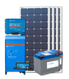 RV Solar Kit Turnkey System - 720W Solar Array, 2000VA Victron 12V MultiPlus, 200Ah Discover Lithium, Wiring & Breakers