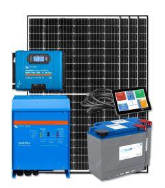 RV Solar Kit Turnkey System - 1320W Solar Array, 3000VA Victron 12V MultiPlus, 400Ah Discover Lithium, System Monitoring, Wiring & Breakers