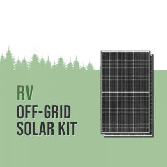 RV Class A 24V Solar Kit - 1480W Panels, 5000VA Inverter, 11.4kWh Lithium Batteries & Alternator Charging