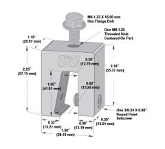 """S-5! S-5-N 1.5 Mini Clamp For 1.5"""" Nail Strip Metal Roof Profiles"""