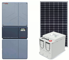 Off-Grid & Grid-Tie 5760 Solar Kit with 5000 Watt 48VDC Inverter & Lithium Battery