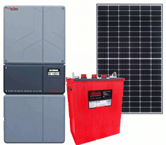 Off-Grid & Grid-Tie 6500 Watt Solar Kit With 5000 Watt 48VDC Inverter & Flooded Batteries