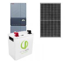 Off-Grid & Grid-Tie 5940 Watt Solar Kit With 5000 Watt 48VDC Inverter & Lithium Battery