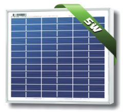 Solarland SLP005-12U 5 Watt 12 Volt Polycrystalline Solar Module