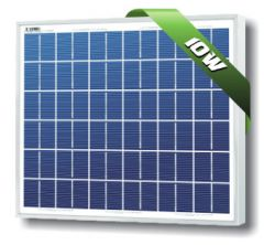Solarland SLP010-12U 10 Watt 12 Volt Polycrystalline Solar Module