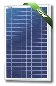 Solarland SLP020-12U-W 20 Watt 12 Volt Polycrystalline Solar Module