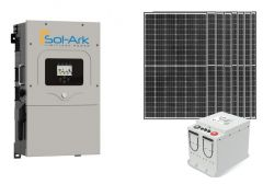 Sol-Ark Power Kit with 2640 Watts of PV and 7.4 kWh of Discover AES LiFePO4 Battery Storage