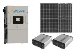 Sol-Ark Power Kit with 2640 watt of PV and 10.8kWh of Fortress eFlex LiFePO4 Battery Storage