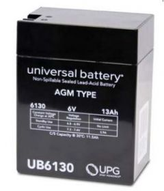 Universal Battery 40575 13 Amp-hours 6 Volt Sealed AGM Battery