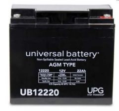Universal Battery 40582 22 Amp-hour 12 Volt Sealed AGM Battery