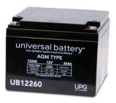 Universal Battery 40598 26 Amp-hour 12 Volt Sealed AGM Battery