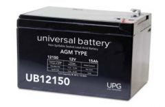Universal Battery 40658 15 Amp-hour 12 Volt Sealed AGM Battery