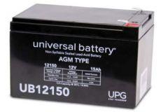 Universal Battery 15 Amp-hours 12V F2 AGM Sealed Battery