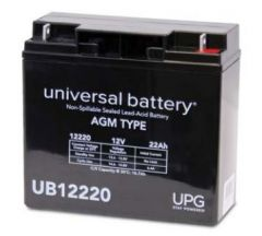Universal Battery 40696 22 Amp-hours 12V AGM Sealed BatteryUB12220