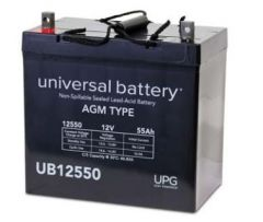 Universal Battery 40740 55 Amp-hours 12 Volt Sealed AGM Battery