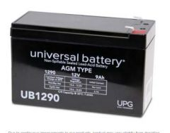 Universal Battery 40749 9 Amp-hours 12V AGM Sealed Battery