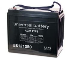 Universal Battery 135 Amp-hour 12V AGM Sealed Battery