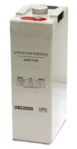Universal Battery 45797 200 Amp-hour 2 Volt I8 Terminal Sealed AGM Battery