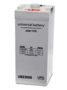 Universal Battery 45798 300 Amp-hour 2 Volt I8 Terminal Sealed AGM Battery