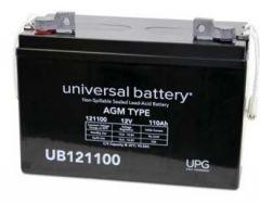 Universal Battery 110 Amp-hours 12V AGM Sealed Battery