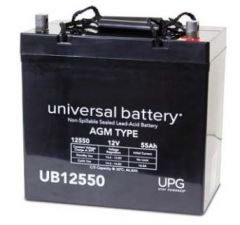 Universal Battery 45825 55 Amp-hours 12 Volt Sealed AGM Battery
