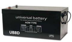 Universal Battery 250 Amp-hours 12V Sealed AGM Battery