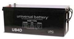 Universal Battery 45972 200 Amp-hour 12V AGM Sealed Battery