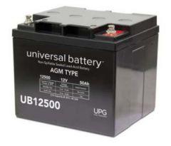 Universal Battery 45979 50 Amp-hours 12V I6 AGM Sealed Battery