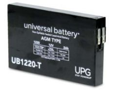 Universal Battery D2790 2 Amp-hour 12 Volt Sealed AGM Battery