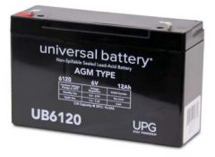 Universal Battery D5736 12 Amp-hours 6 Volts Sealed AGM Battery