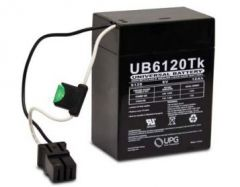 Universal Battery D5737 12 Amp-hours 6 Volt P2 Wire Lead AGM Battery