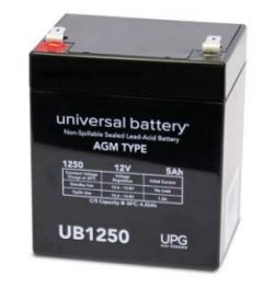 Universal Battery D5777 5 Amp-hour 12 Volt Sealed AGM Battery