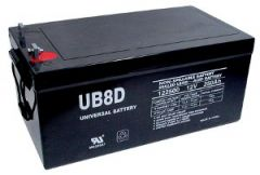Universal Battery 250 Amp-hours AGM Sealed Battery