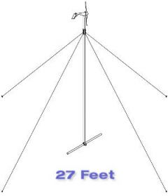Primus Wind Power 27 Foot AIR Guyed Tower Kit