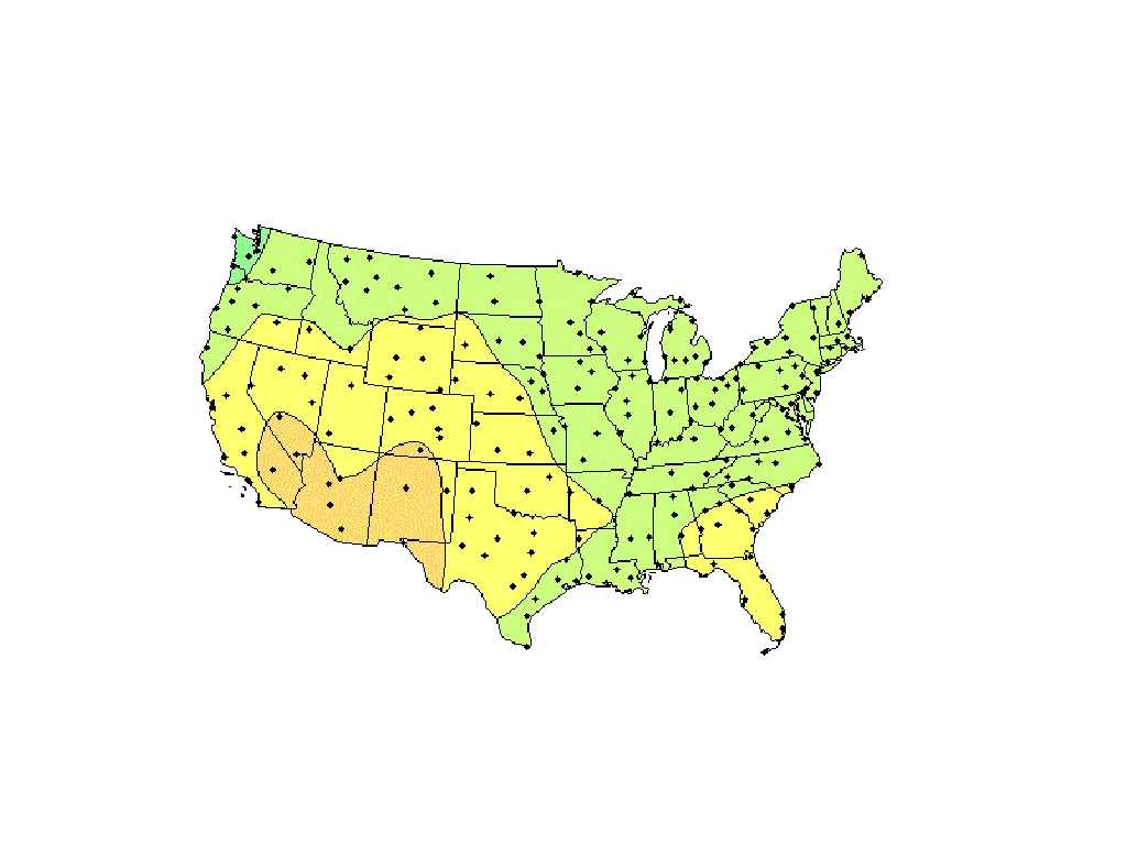 US Solar Insolation Maps
