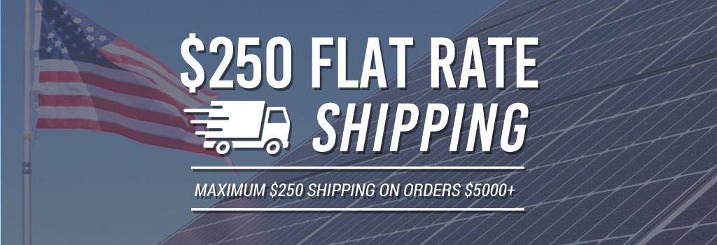 $250 Maximum Shipping Rate